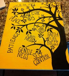 Fruit of the Spirit Canvas on Etsy, $23.00