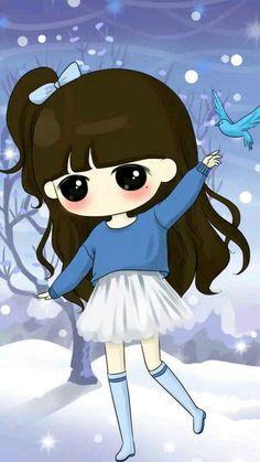 Ideas funny christmas pictures cartoon for 2019 Kawaii Chibi, Cute Chibi, Anime Chibi, Cute Girl Wallpaper, Kawaii Wallpaper, Funny Christmas Pictures, Cute Pictures, Girl Cartoon, Cute Cartoon