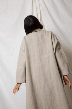 Arthur Apparel - Linen Cocoon Trench in Natural