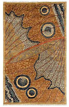 moth wing rug, contemporary Persian design