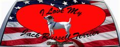 I Love My Jack Russell Terrier Custom Rear Window Graphic