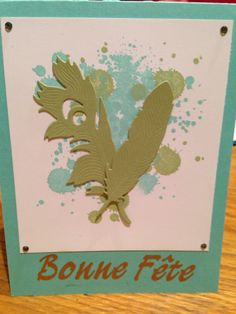 Plumes stampin up
