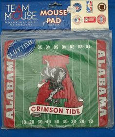 New In Package Alabama Crimson Tide Football Mouse Pad Mats Mousepad RARE