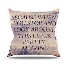 KESS InHouse Pretty Amazing by Rachel Burbee Sky Throw Pillow $60.99 by AllModern