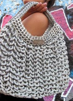 Pop Tab Art Crochet Purse