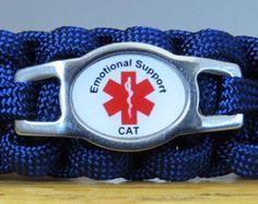 Emotional Support Cat, Emotional Support Animal Cat Collar, Paracord Cat Collar, Survival Collar