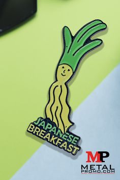 We helped create these awesome pins for the band Japanese Breakfast and they turned out great! If you're looking to create something unique, check out our ordering guide. Custom Coins, Free Artwork, Pins And Needles, Custom Metal, Lapel Pins, Patches, Enamel, Japanese, Jewellery