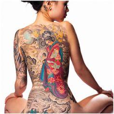 Sick back tattoo.