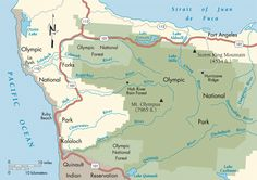 Pacific Coast: Olympic National Park map