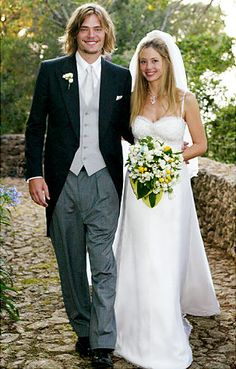 Happily married husband and wife: Christopher Backus and Mira Sorvino at their wedding ceremony