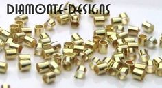necklace gold parts / 200-x-1-5mm-Gold-Plated-Tube-Crimp-Beads-Jewellery-Craft-Findings-S152