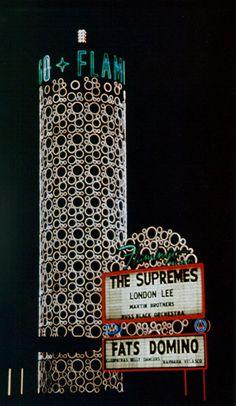 The Supremes at the Flamingo Las Vegas! Vegas Casino, Las Vegas Nevada, Vegas 2, Vegas Strip, Neon Moon, Vegas Sign, Old Signs, Vintage Signs, Flamingo