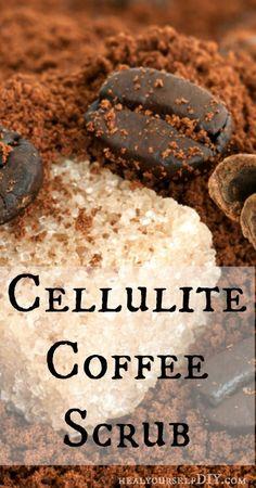 How to Make a Cellulite Coffee Scrub  www.healyourselfDIY.com