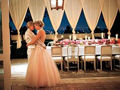Elegant, but not trying too hard and very romantic. | Ellen & Portia's Wedding Album - STUCK ON HER - Weddings : People.com