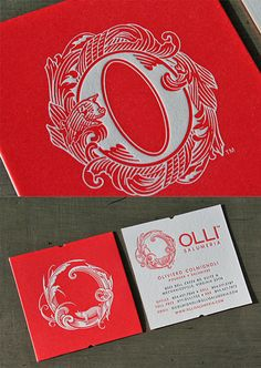 Beautiful Typography Business Card Design | Business Cards | The Design Inspiration