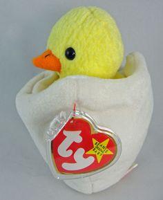 Ty Beanie Baby EGGBERT the Chick in Egg 6