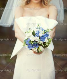 bukiet ślubny niebieski - Szukaj w Google