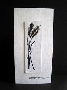 sympathy card ... clean and simple ... good basic design ... useful for other card creations ...