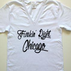 CHICAGO BLACKHAWKS Corey Crawford Fukin' Right Chicago Screen printed T-shirt WOMEN'S