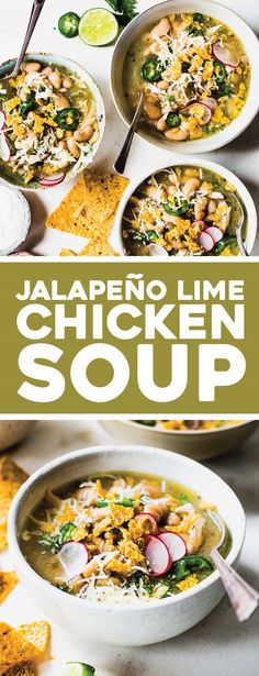 Jalapeño Lime Chicken Soup This simple and healthy Jalapeño Lime Chicken Soup has white beans, salsa verde, and a hit of fresh jalapeño and lime juice. Related posts: Chicken and Lime Soup Thai chicken soup with basil and lime Chicken And Lime Soup Chicken Lime Soup, Chicken Soup Recipes, Chicken Jalapeno, Healthy Chicken Soup, Instapot Soup Recipes, Mexican Food Recipes, Healthy Recipes, Rice Recipes, Best Soup Recipes