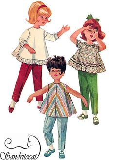 1960s Vintage Sewing Pattern McCalls 6253 Girls by sandritocat, $10.00