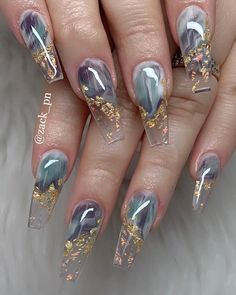 Latest Acrylic Nail Designs for Prom Parties – Nail Art Ideas 2020 - Nail Ar. Nail Design Stiletto, Nail Design Glitter, Best Acrylic Nails, Acrylic Nail Designs, Nail Art Designs, Marble Acrylic Nails, Clear Nail Designs, Wedding Acrylic Nails, Beautiful Nail Designs