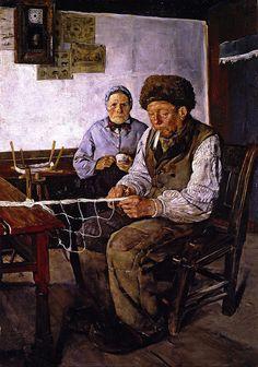 Christian Krohg - The Net Mender