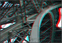 Eiffeltower 3D Eiffeltoren Paris anaglyph stereo red/cyan