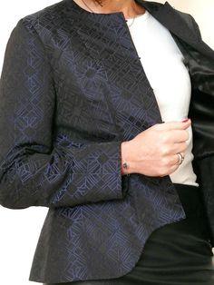 Veste à basque Burda (couture facile Automne 2014) en Jacquard