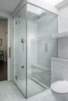 Marble Bathroom | Interior Design of Private House Tarrant Place, London UK by Bart Eyking
