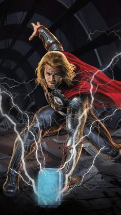 Thor Thunder Art IPhone Wallpaper - IPhone Wallpapers