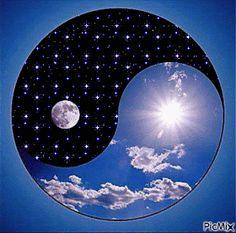 Yin Yang, Kite, Concept Cars, Light In The Dark, The Darkest, Skyline, Moon, Earth, Illustration