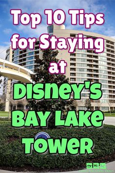 Disney's Bay Lake Tower is an amazing hotel that's part of the Contemporary Resort. It's one of the best hotels at Disney World. You can take the monorail or walk to Magic Kingdom! Find out 10 tips for your stay so that you can save money Best Family Vacations, Family Vacation Destinations, Vacation Deals, Vacation Spots, Bay Lake Tower, Polynesian Village Resort, Disney World Hotels, Disney Vacation Club, Magic Kingdom