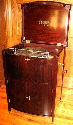 "Mira Empress 18 1 2"" Double Comb Mahogany Console Disc Music Box Phonograph | eBay"