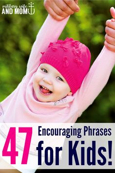 FREE Printable! Love these encouraging phrases for kids! Especially #10.