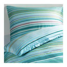 PALMLILJA Duvet cover and pillowcase(s) - King - IKEA like the brighter colors