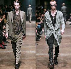 TOM REBL 2014-2015 Fall Autumn Winter Mens Runway Looks Fashion - Milano Moda Uomo Milan Fashion Week - Denim Jeans Tribal Kilt Manskirt Sha...