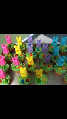 Easter Peeps Cupcakes (Class Party)