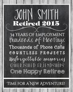 Retirement Print Retirement Gift Retiree Gift. by CreativeKittle