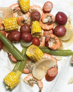 Spicy Shrimp and Sausage Boil. This was great. I added a couple of lobster tails too.