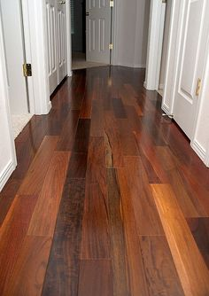 Besides being stunning - Brazilian Walnut is a rare wood that is so dense and hard it doesn't float! Beautiful and durable! http://www.simplefloors.com/products/Exotic-Flooring/Terre-Verte/Brazilian-Walnut-French-Bleed-/flooring784.aspx