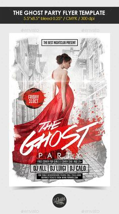 The Ghost Party Flyer Template - GraphicRiver #BestDesignResources