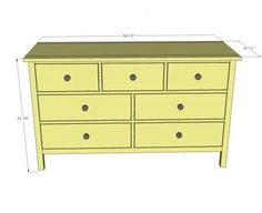 kendal extra wide dresser build your own dresser free plans from anawhite