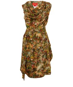 Vivienne Westwood Red Label Multicolour Floral Print Silk Dress | Designer Dresses by Vivienne Westwood Red Label | Liberty.co.uk
