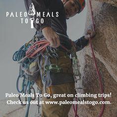 You need strength, stamina, focus. Food makes a difference. Use Paleo Meals To Go on your next climbing trip.  paleomealstogo.com/.