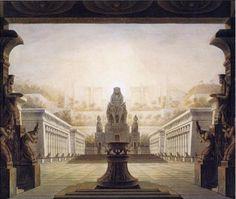 Karl Friedrich Schinkel, 1816 Stage Designs for Wolfgang Amadeus Mozart's The Magic Flute