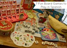 7 Fun Board Games to Play in Spanish. These games are easy to adapt to play in any language!! #esl #spanish #languagedevelopment