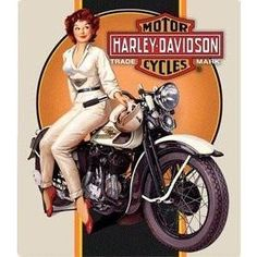 """Officially licensed by Harley Davidson® Measures 13"""" x 15"""" A beautiful High-Quality sign Harley Davidson Vintage, Motos Harley Davidson, Harley Davidson Posters, Classic Harley Davidson, Vintage Advertisements, Vintage Ads, Vintage Posters, Motos Vintage, Vintage Motorcycles"""