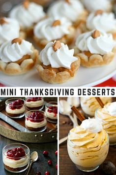 Mini Thanksgiving Desserts