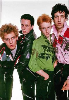 Paul Simonon (from left), Joe Strummer, Topper Headon and Mick Jones of the Clash circa courtesy Getty Images. Joe Strummer, London Calling, The Clash Band, I Love Music, The Future Is Unwritten, Mick Jones, British Punk, 70s Punk, Le Choc